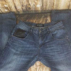 Black Premium low rise slim straight 34 x 32 jeans
